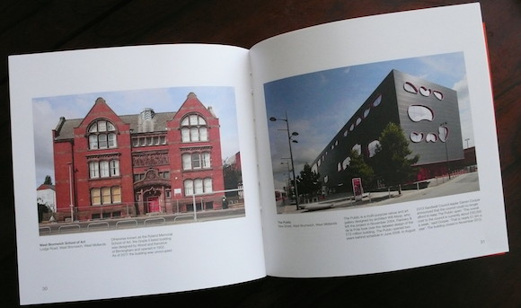 Left: West Bromwich School Of Art, opened 1902, unoccupied since 2011. Right: The Public, West Bromwich, opened June 2008, closed November 2013.
