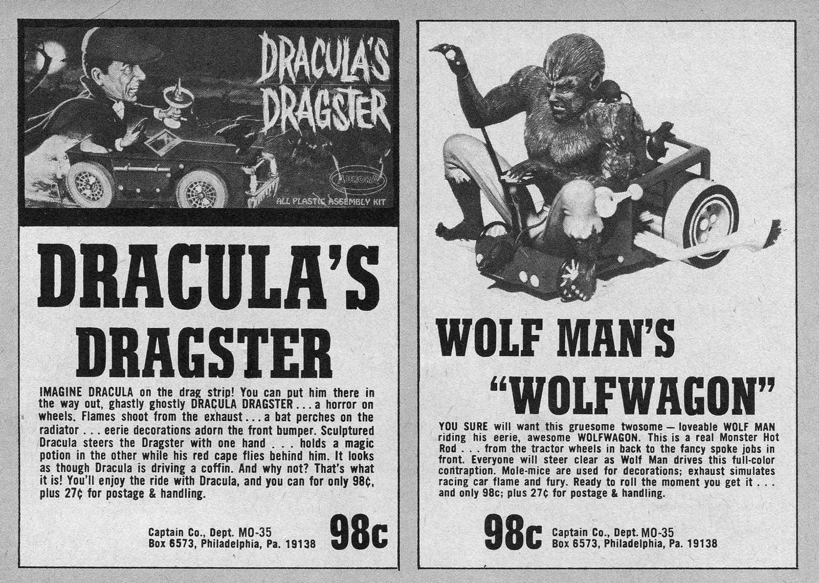 vintage monster magazine advert
