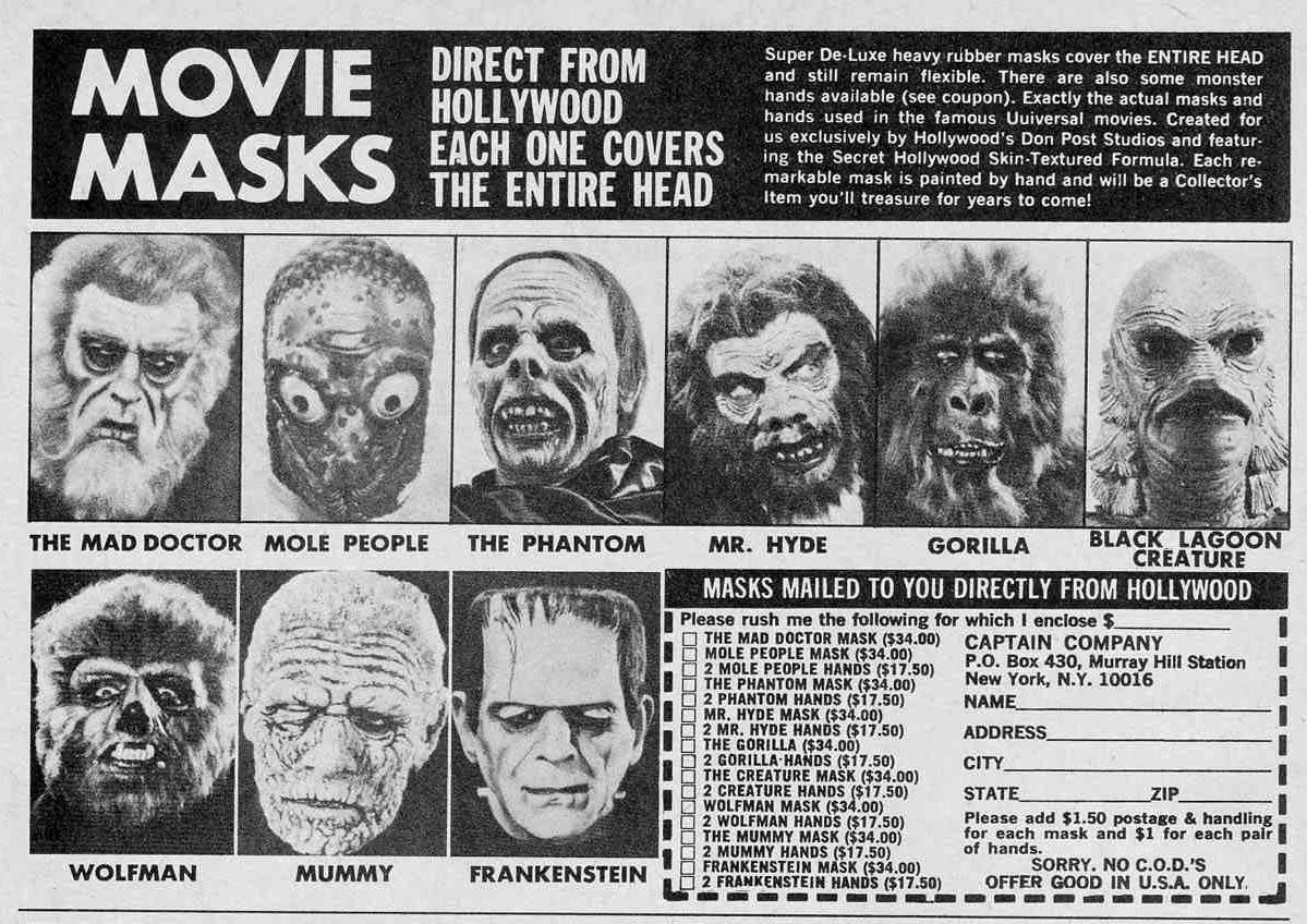 vintage monster masks
