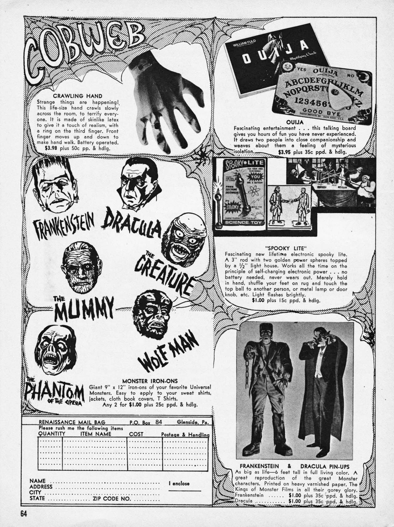 vintage monster magazine ads