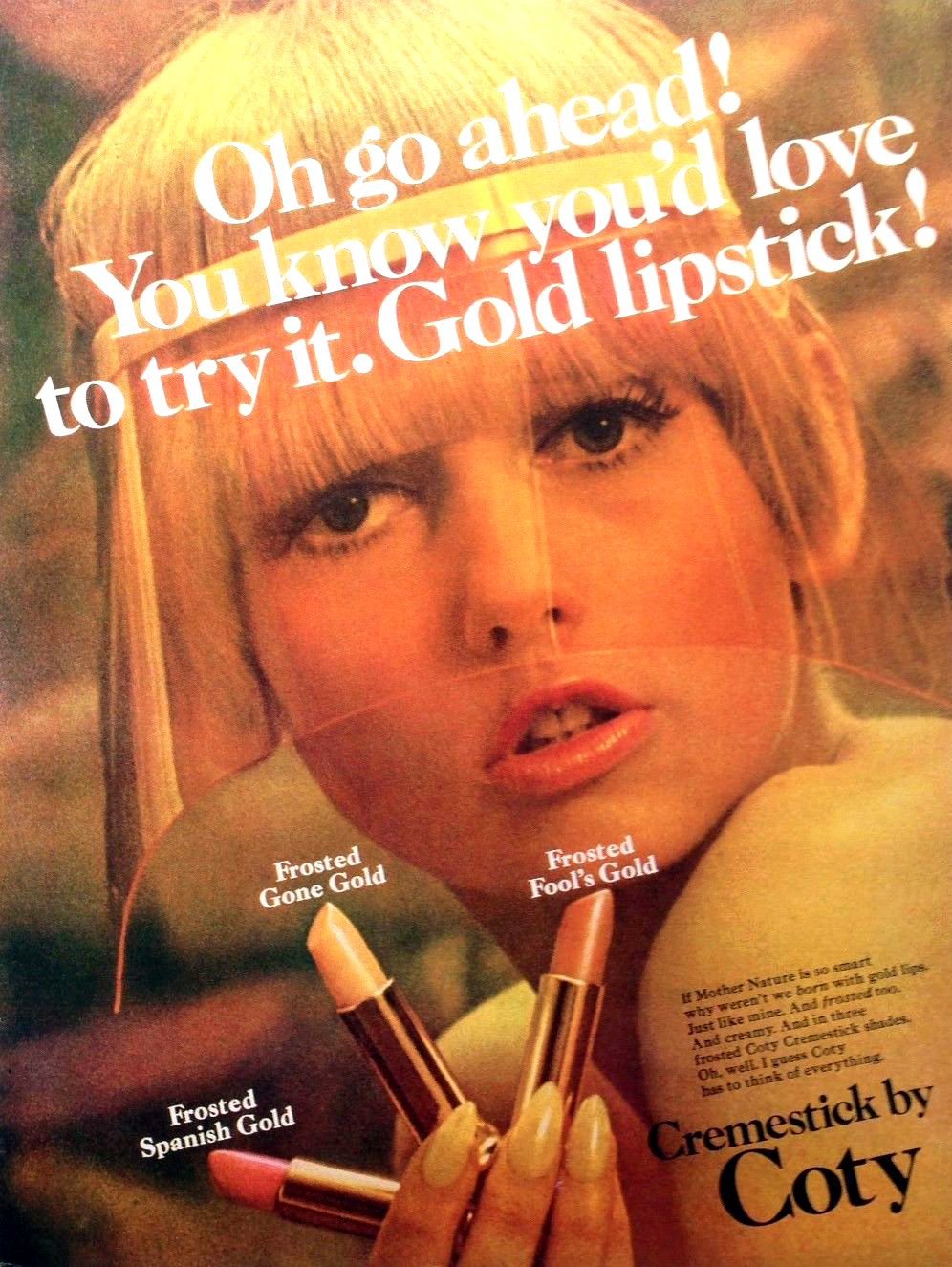 High Gloss And Hot Pink Lipstick Adverts From The 1960s