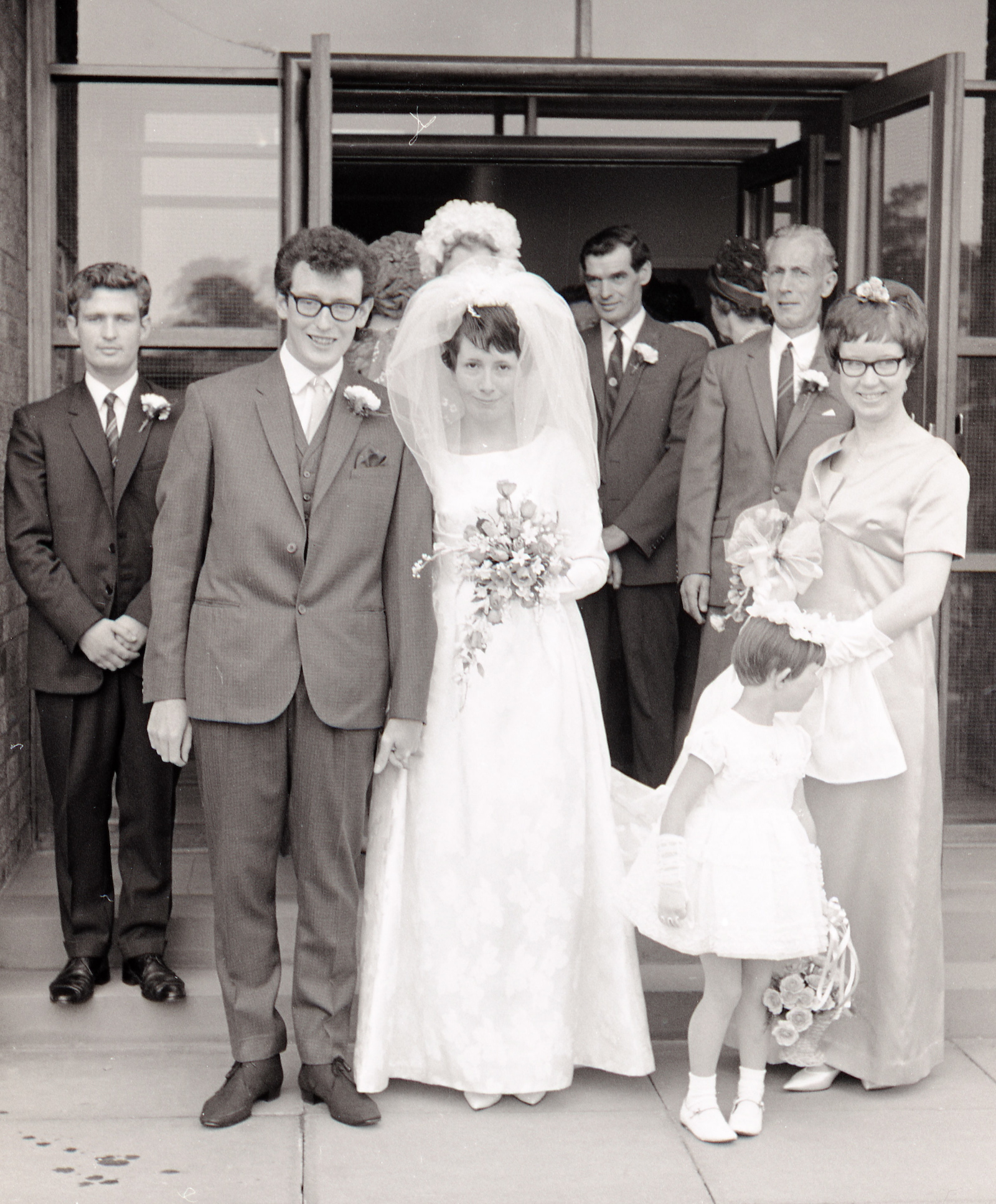 found photo wedding 1970s
