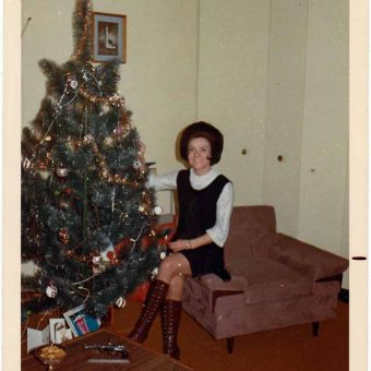 Mid-Century Women Enjoying Aluminum Christmas Trees