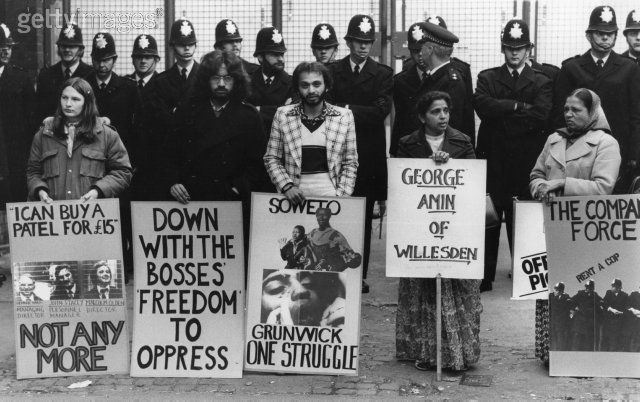 Grunwick protest Dollis Hill London