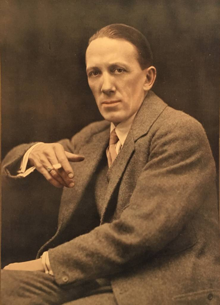 Gerald du Maurier, smoking as usual.