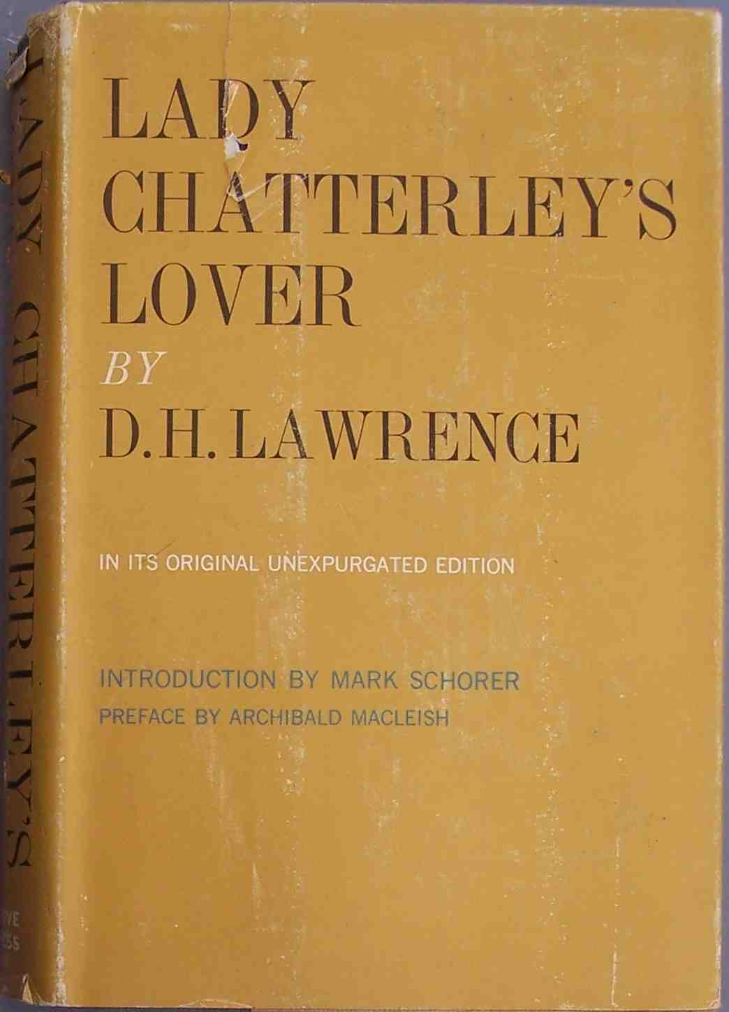 Lady Chatterley Hardback Intro Mark Schorer New York Grove
