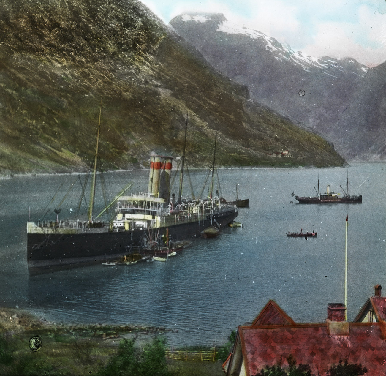 Lantern slides 19th century - the fjords of Norway
