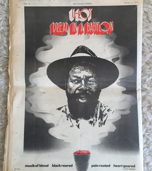 Linton Kwesi Johnson,The Marquee. Sex Pistols, NME, February 21, 1976