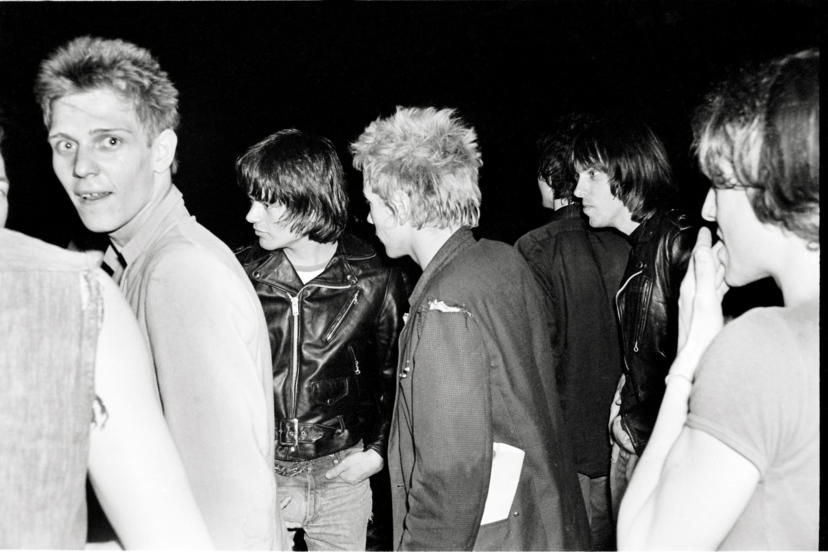 London, The Ramones, 1976 Paul Simon of the Clash, Dee Dee, Johnny Rotten of the Sex Pistols, Johnny Ramone.