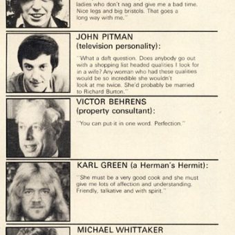 'What I Want In A Wife': Britain's Most Eligible Bachelors Reveal All (April 1972)