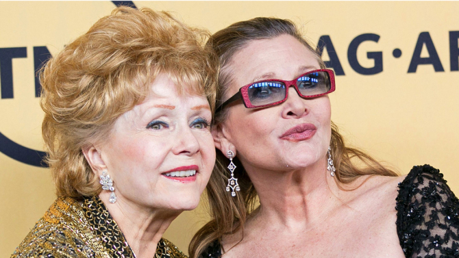 debbie reynolds carrie fisher together
