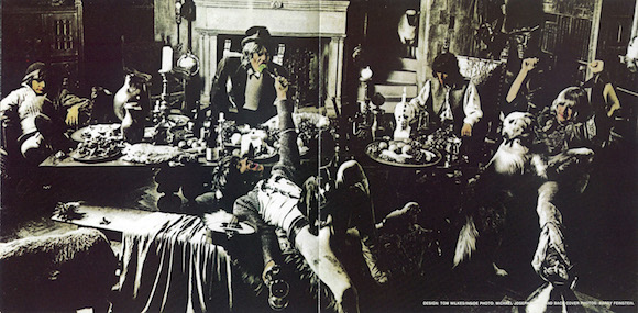 Inner gatefold, Beggars Banquet, Rolling Stones, Decca Records, 1968. Photo Michael Roberts, design Tom Wilkins