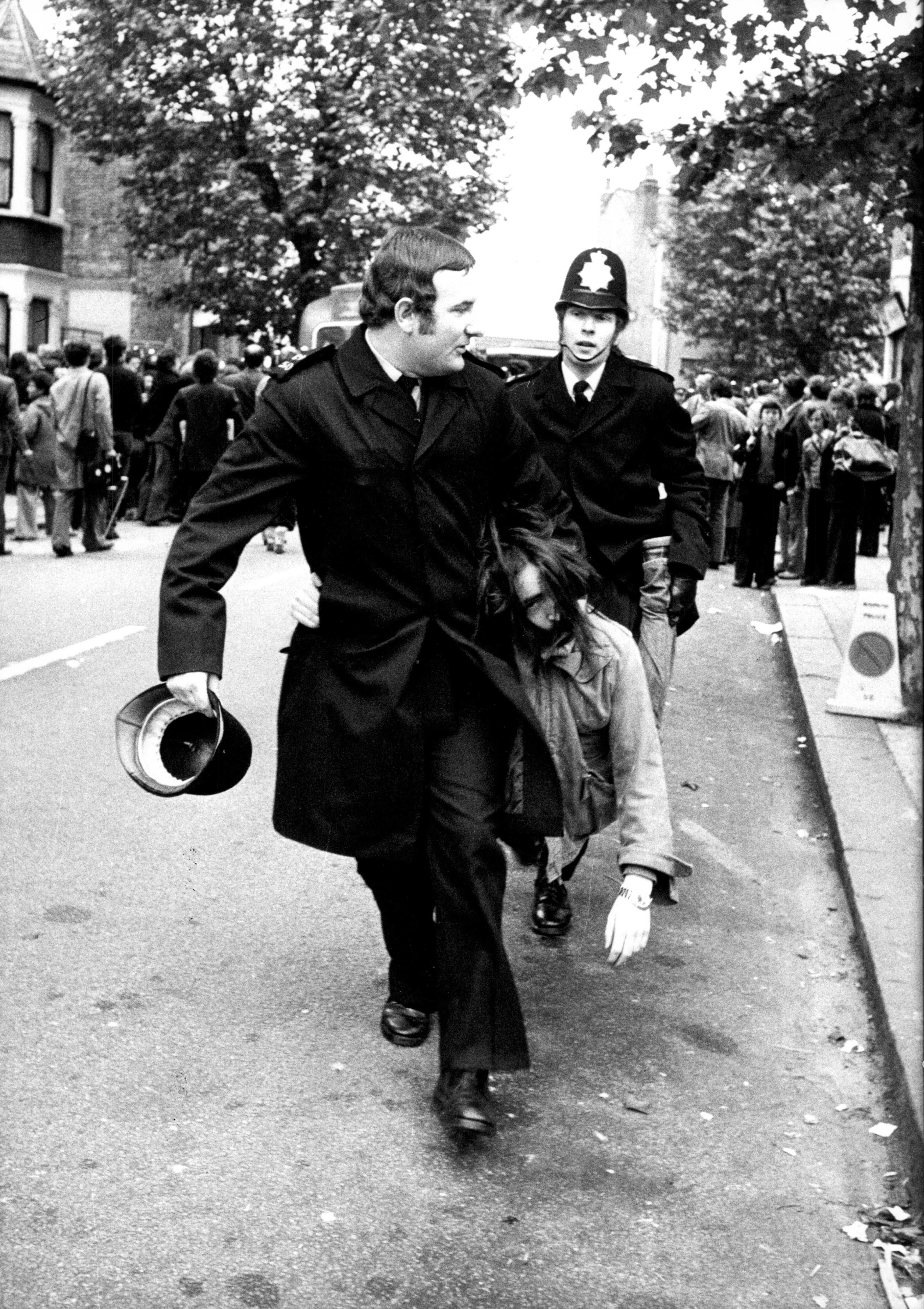 Police Arrest A Picket Outside The Grunwick Plant In Willesden London. The Grunwick Dispute Was An Industrial Dispute Involving Trade Union Recognition At The Grunwick Film Processing Laboratories Which Led To A Two-year Strike Between 1976?1978.
