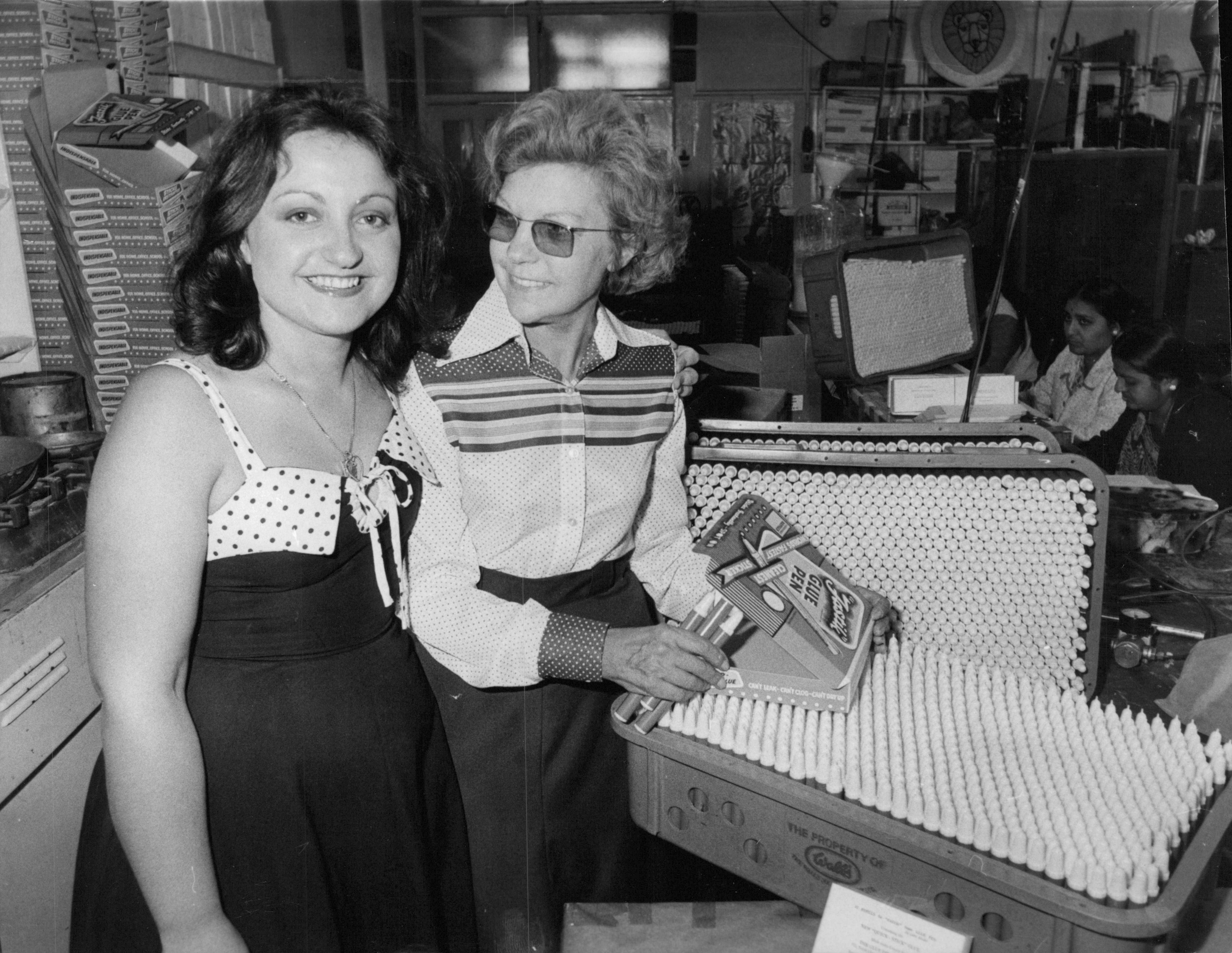 Mrs Joy Amon And Her Daughter Bobbie Whose Family Run Firm Glue Pen Company At Cricklewood Is Threatened With Bankruptcy Because Of The Blacking Of Grunwick Mail. (for Full Caption See Version) Box 684 305051618 A.jpg.