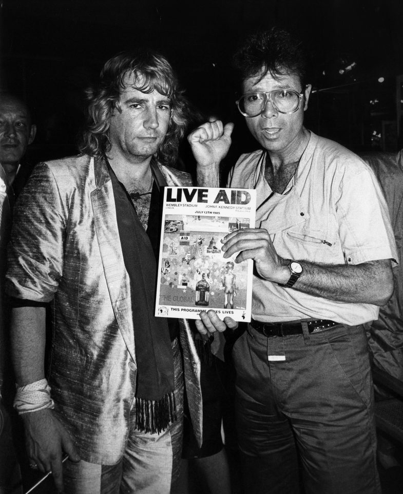 Rick Parfitt with Sir Cliff Richard 1985