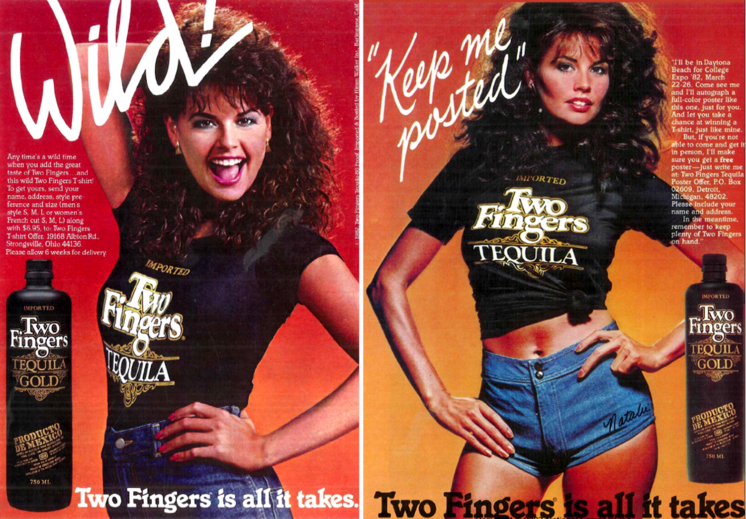 two fingers tequila advert