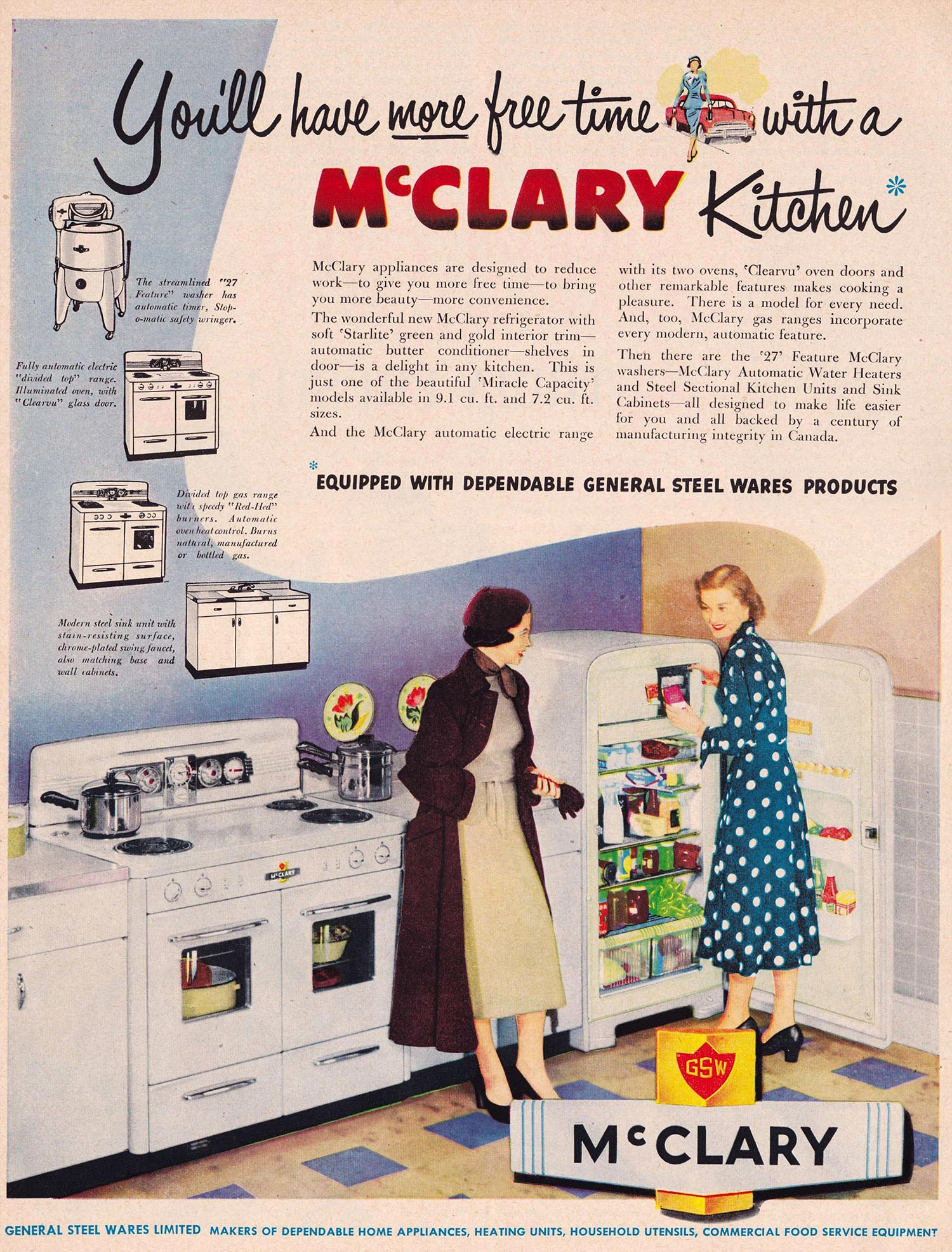 This Advert From 1968 Features A Woman Literally Gobsmacked By Her Washer S Agitator And Well She Should Be The New Appliance Component Has Appaly