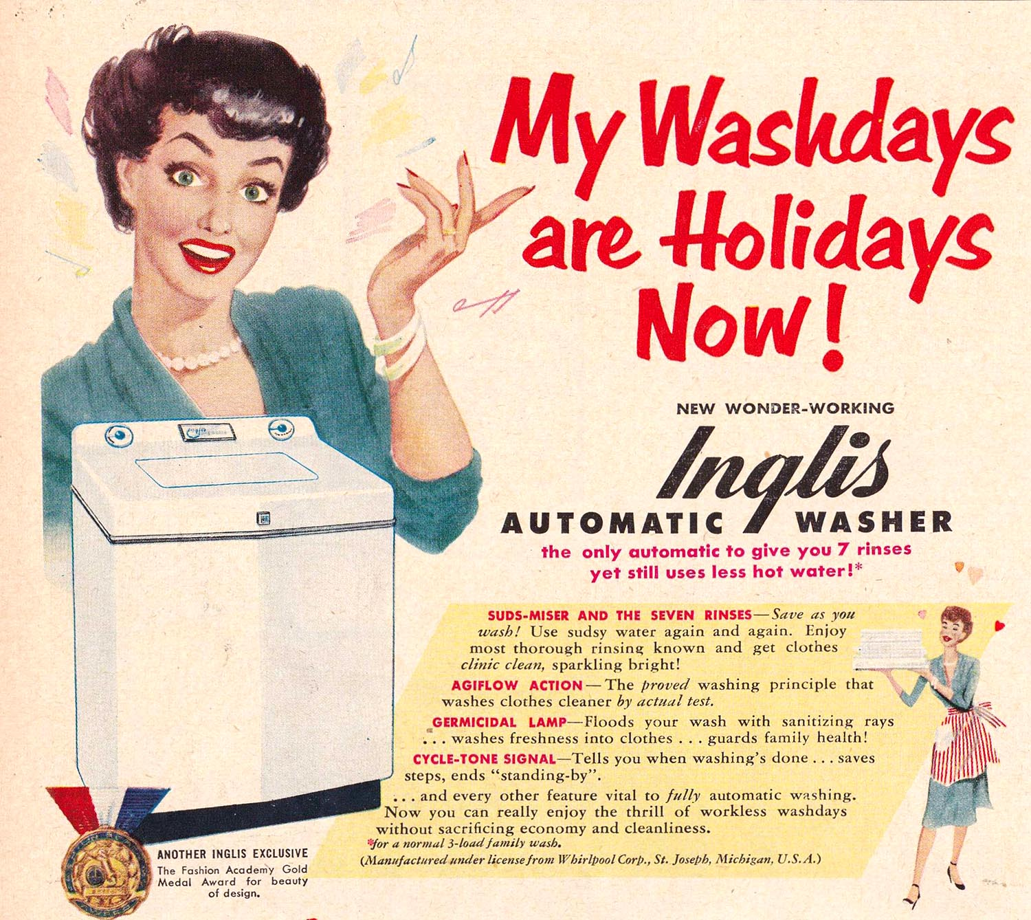 Home Appliance Advertising From The 1950s 1970s Basically Consisted Of  Women In A State Of Sublime Worship Of Their Brand New Appliance.