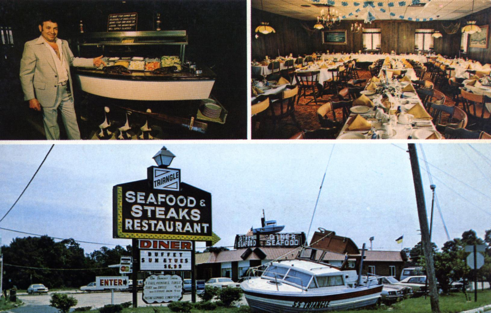 New Jersey postcards 1960s 1950s restaurants food