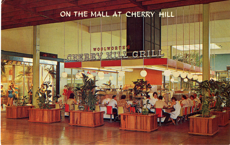 New Jersey Postcards 1960s 1950s Restaurants Food Cherry Hill Grill Mall Nj