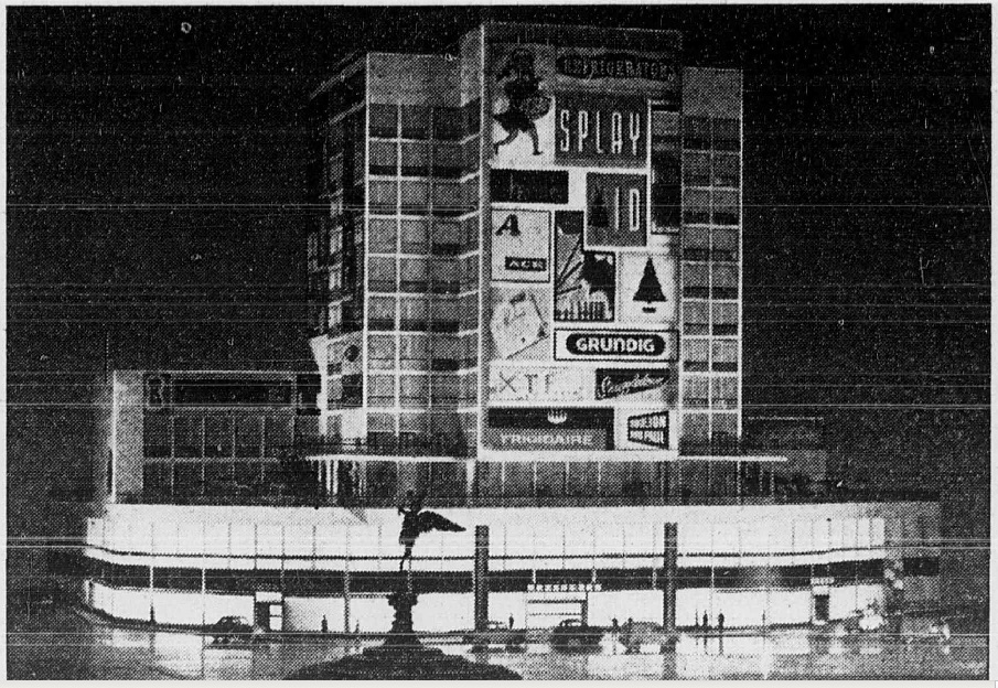 Piccadilly Circus tower block 1959