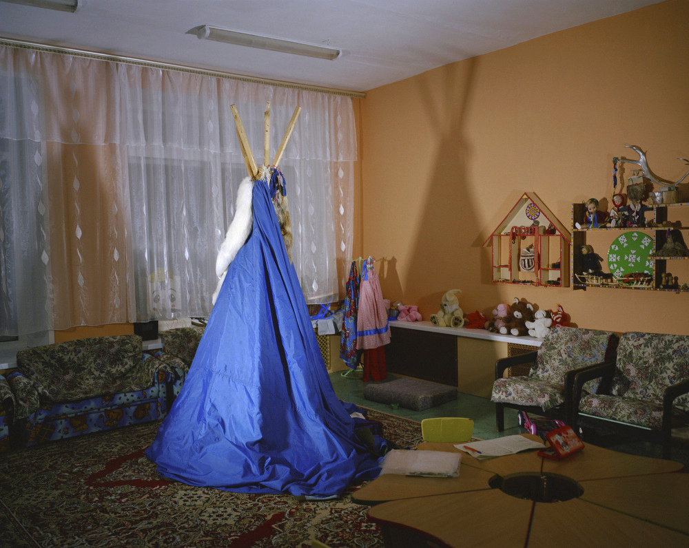arctic tundra of Russia, there is a boarding school for the Nenets