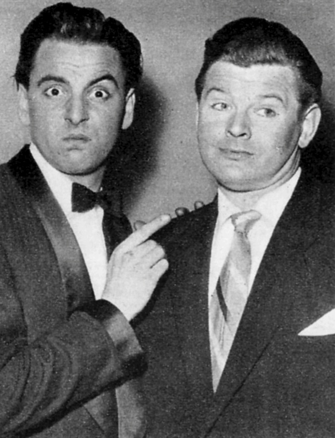 Benny Hill and Bob Monkhouse