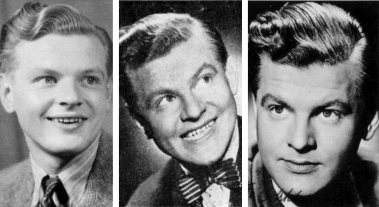Three pictures of Benny Hill early in his career.