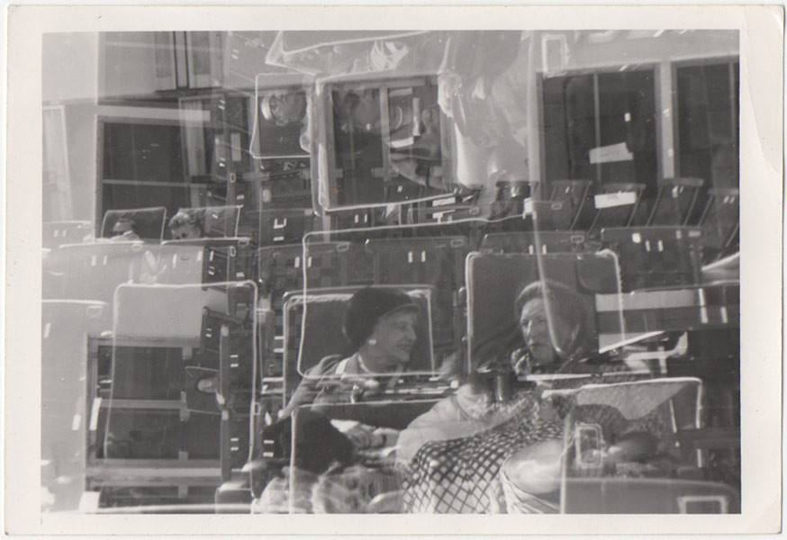 double exposure vintage