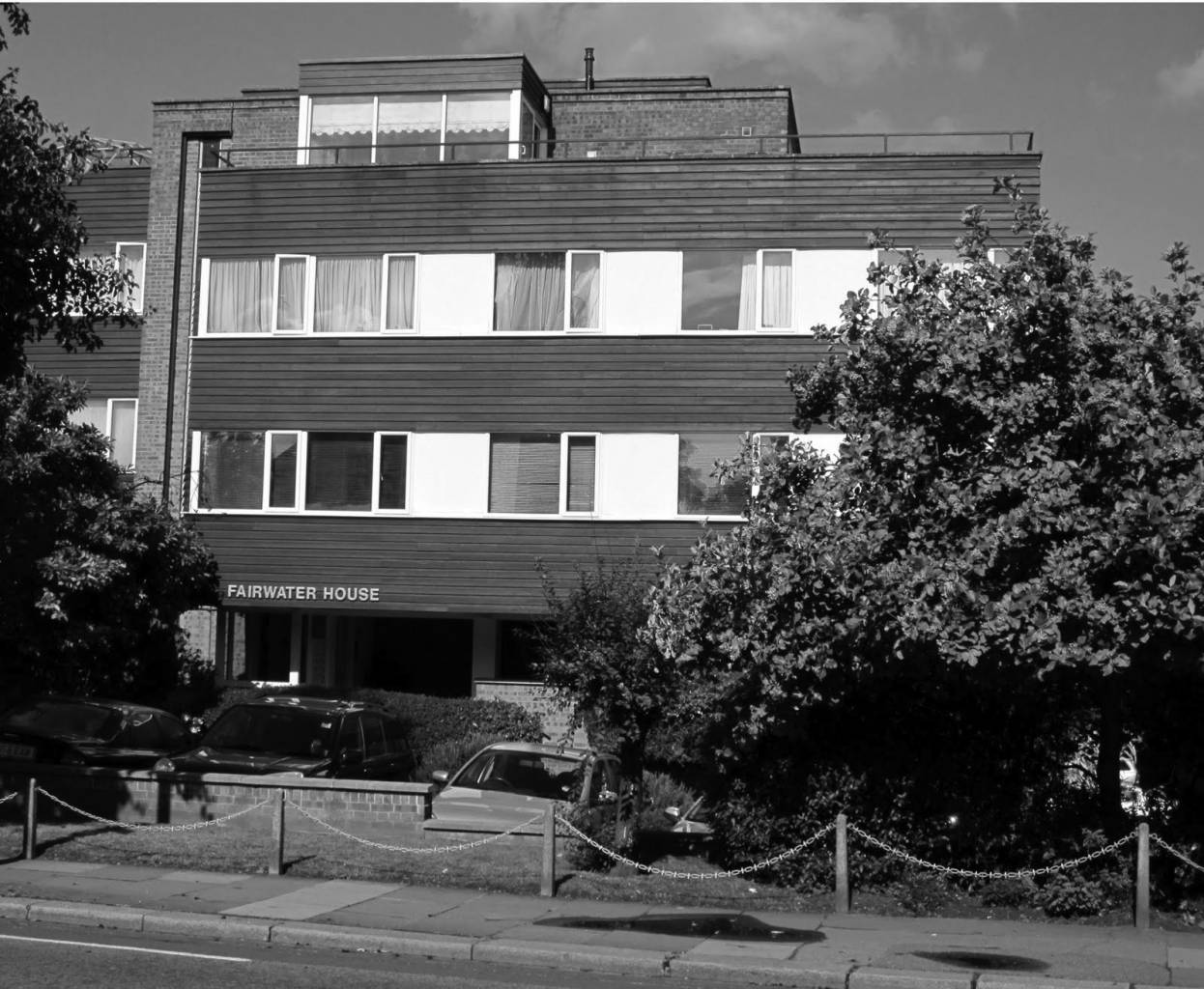 Benny Hill's flat was on the second floor of Fairwater House in Twickenham.