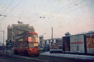 Harrow Road at Westbourne Terrace, 2 Jan 1962.