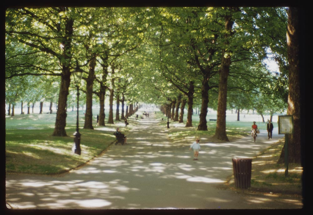 Date: Jun. 28, 1961 Location: London, England, United Kingdom (Greater London county) Description: Green Park shaded walks