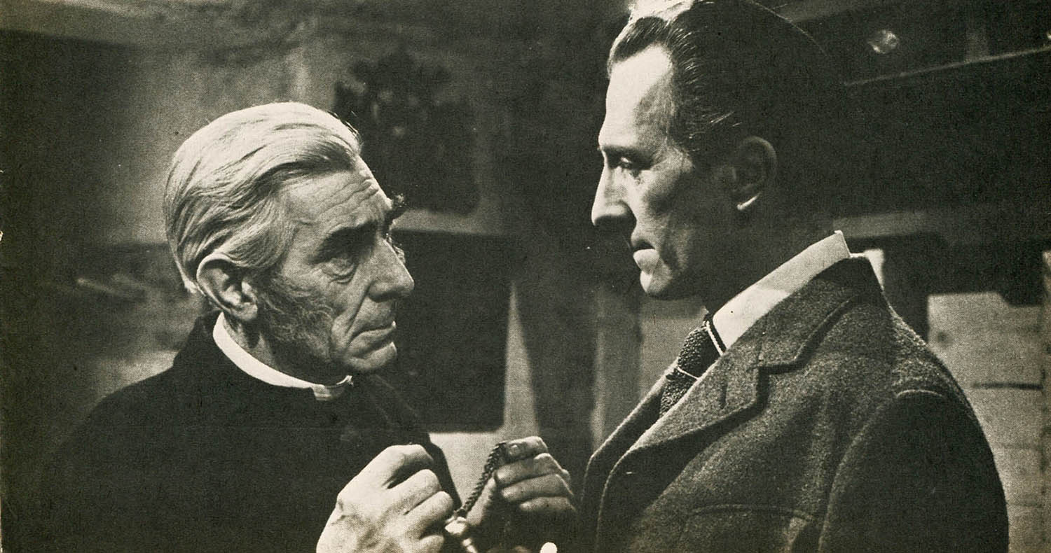 Cushing and David Peel in The Brides of Dracula (1960)