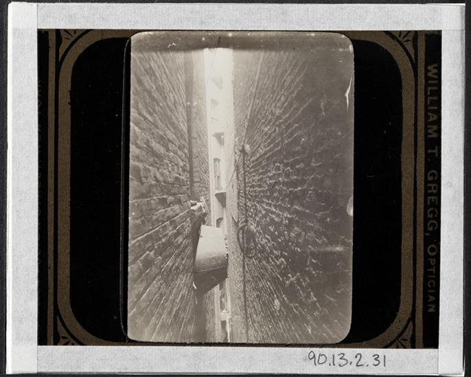The only Bath-tub in the Block: it hangs in the Air Shaft. DATE:ca. 1897