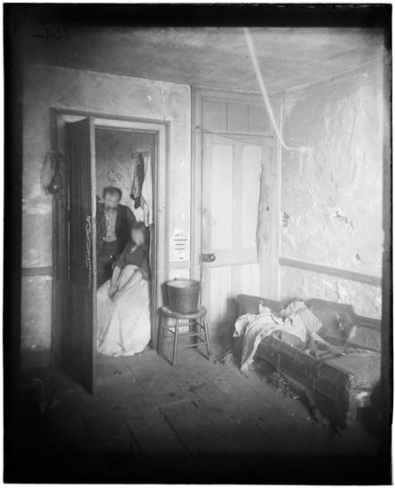 A Flat in the Pauper Barracks, West Thirty-eighth Street, with all its Furniture. DATE:ca. 1890