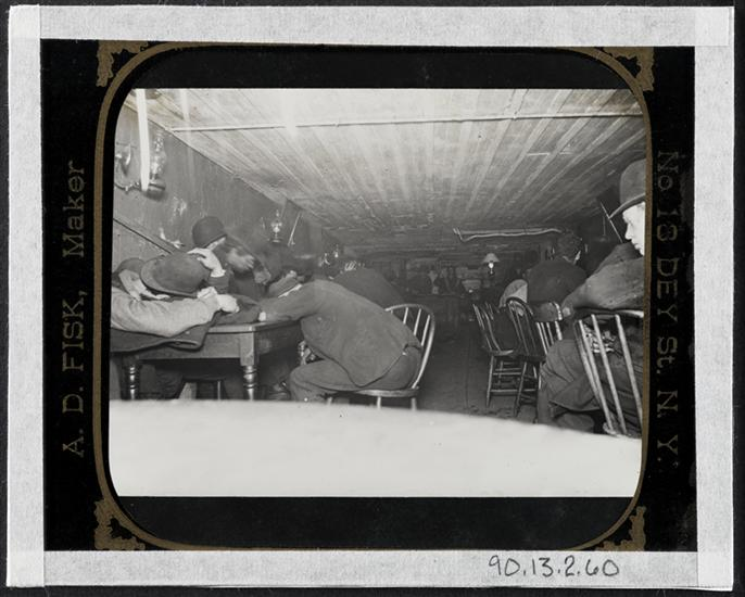 "n All-Night Two-Cent Restaurant, in ""The Bend"". DATE:ca. 1890"