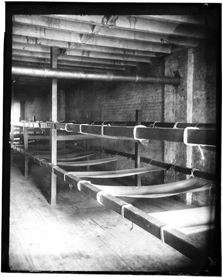 Bunks in a Seven-Cent Lodging House, Pell Street. DATE:ca. 1890