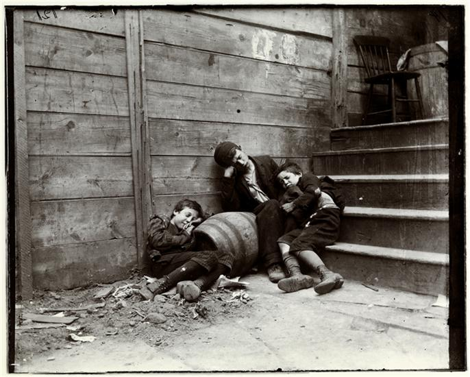 Street Arabs -- night, Boys in sleeping quarter. DATE:ca. 1890