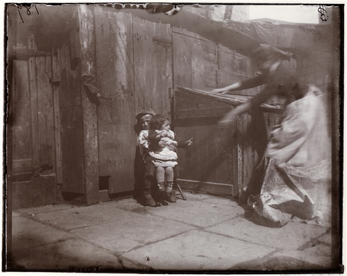 Minding the baby; Baby yells a Whirlwind Scream, Gotham Court. DATE:ca. 1890