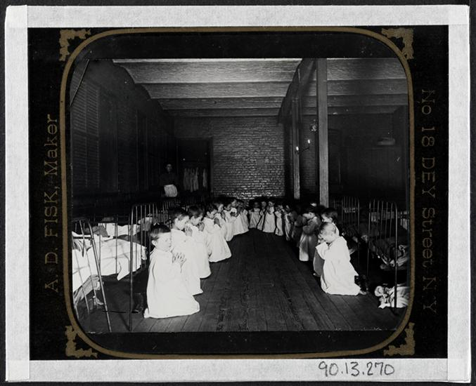 Prayer-time in the Nursery - Five Points House of Industry. DATE:ca. 1890