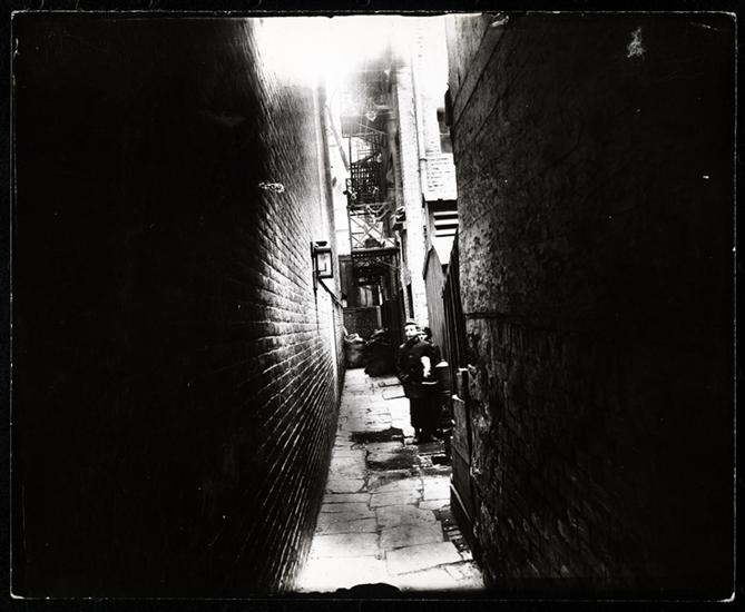 Nibsy's Alley at 47 1/2 Crosby Street, torn down in the Fall of 1895. DATE:ca. 1890