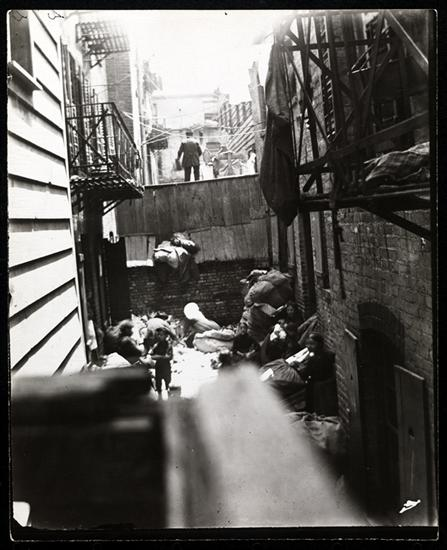 Baxter Street Alley, directly in the rear of Bandits' Roost. DATE:ca. 1890