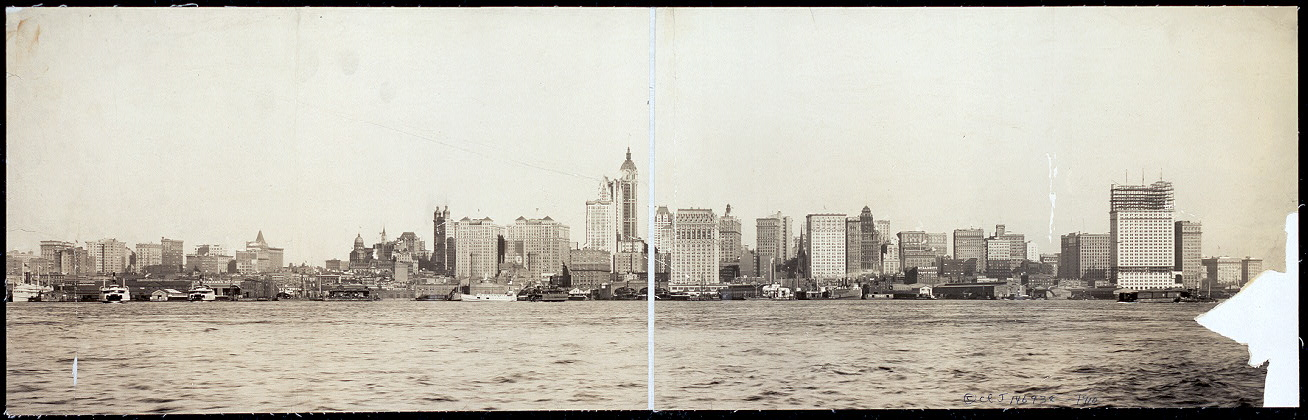 new york city skyline 1910