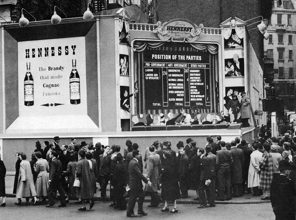 PICCADILLY CIRCUS ELECTION RESULTS 1951