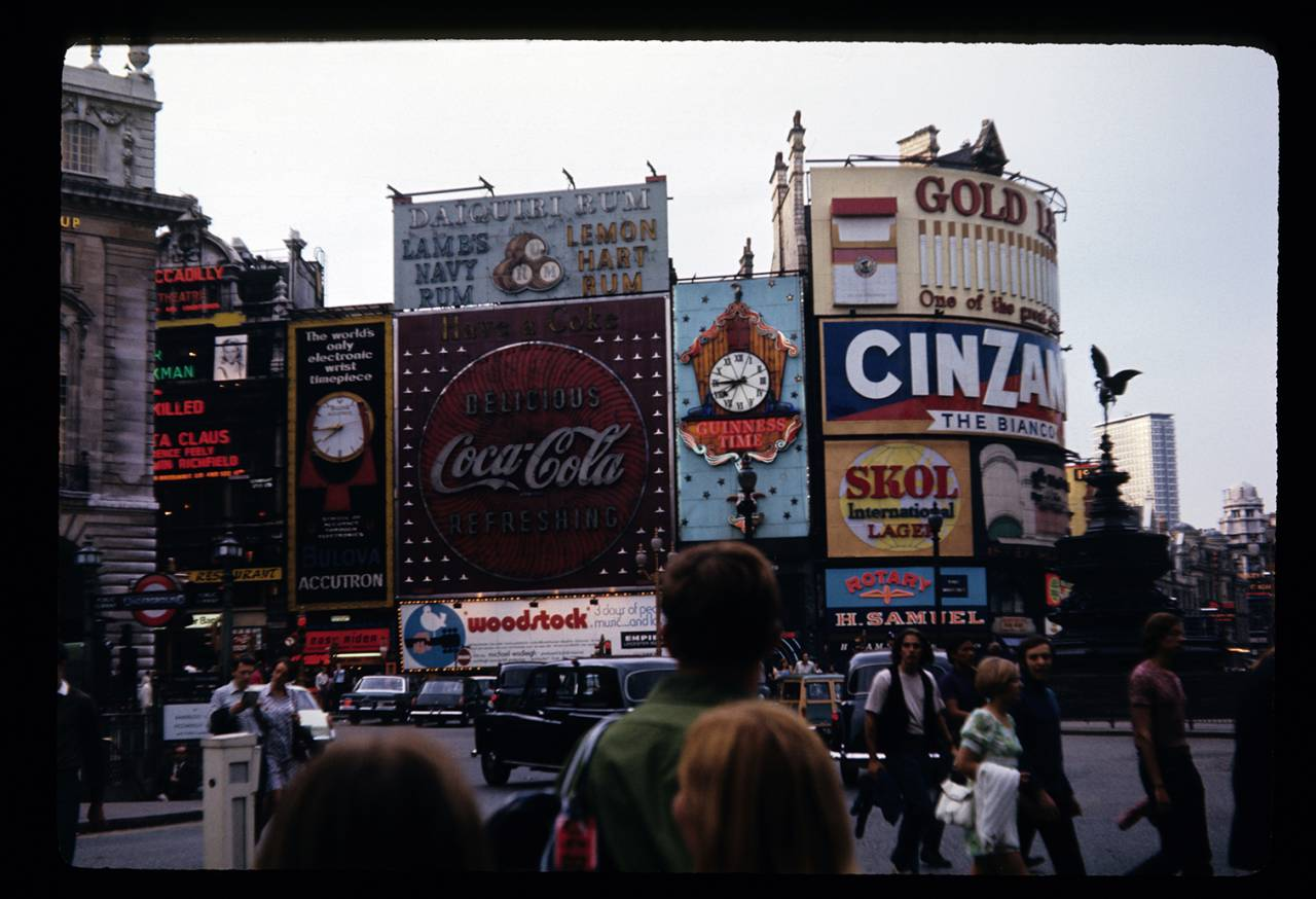 Piccadilly Circus in 1960 Harold Slatore.
