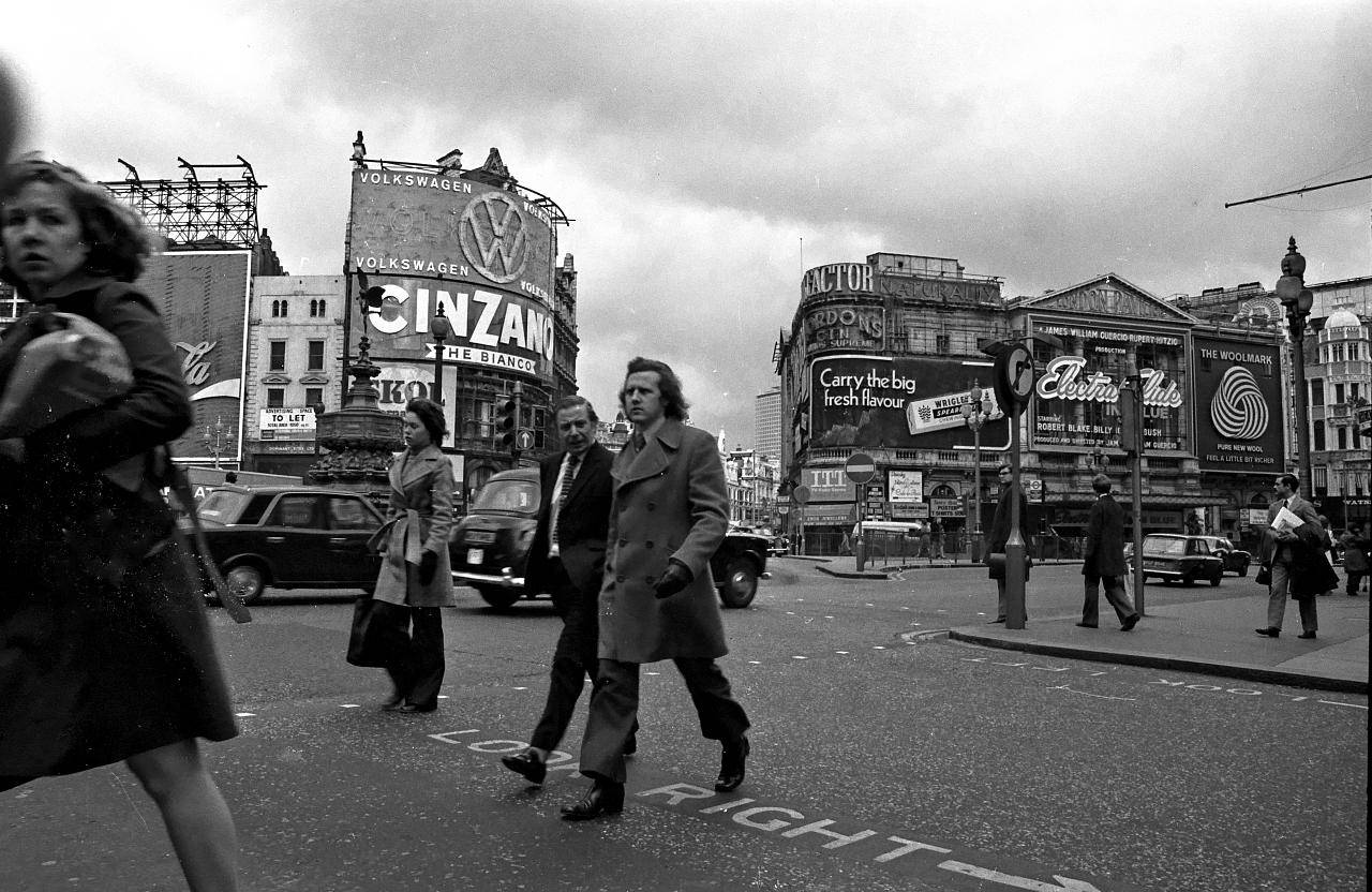 Piccadilly Circus, 1974 by Daniel Vaulot