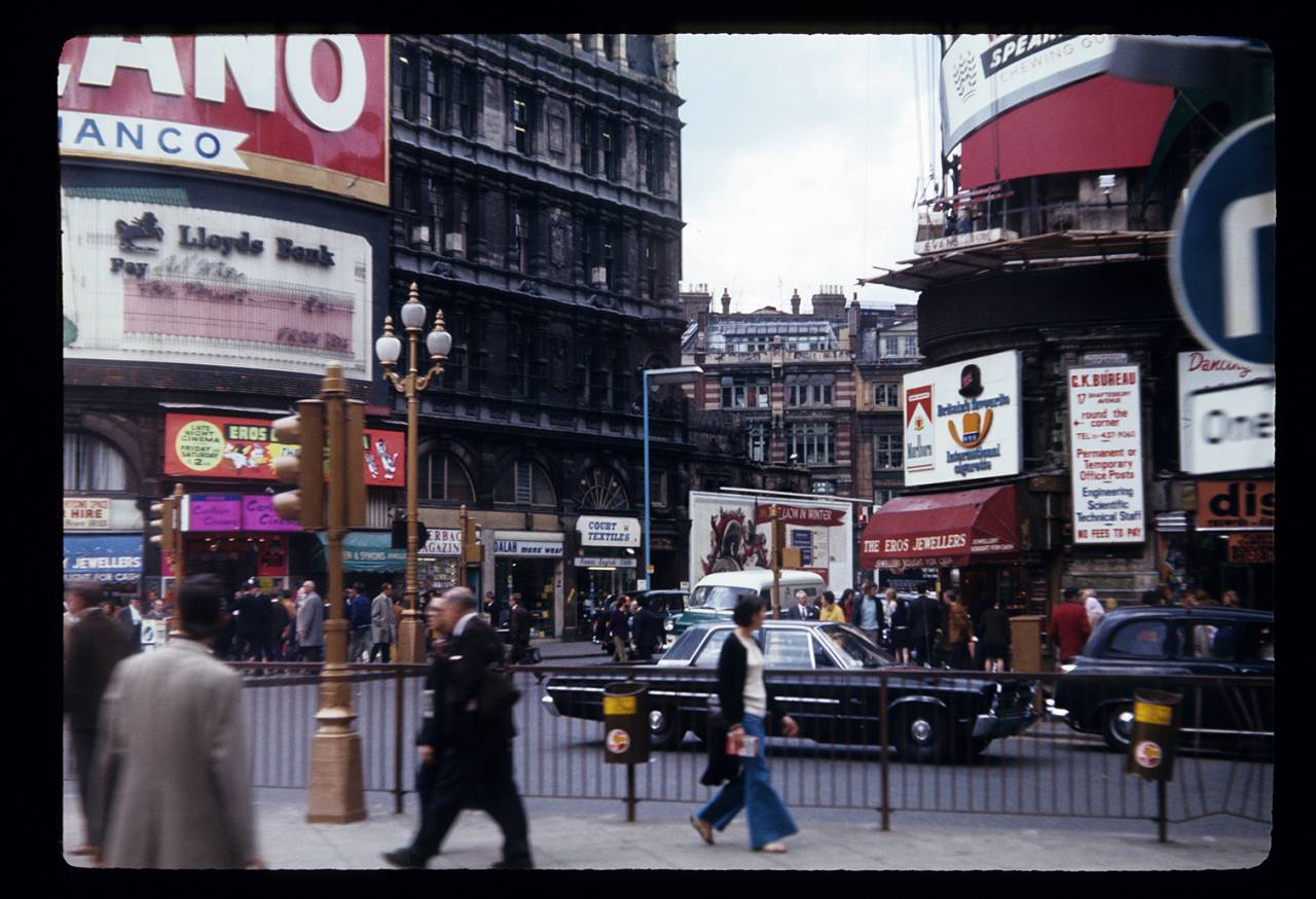 Piccadilly Circus, 1970 by Harold Slatore