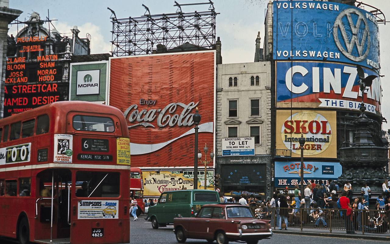 Piccadilly Circus 1974 Peter Krumme