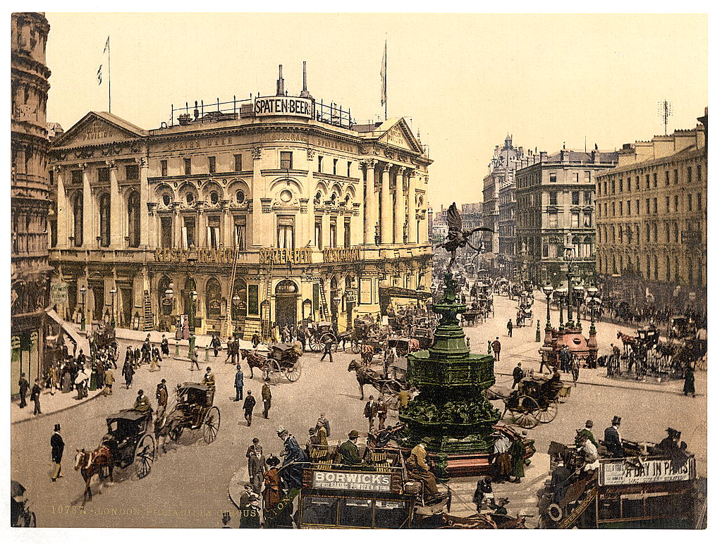 Piccadilly Circus Photochrom c.1895