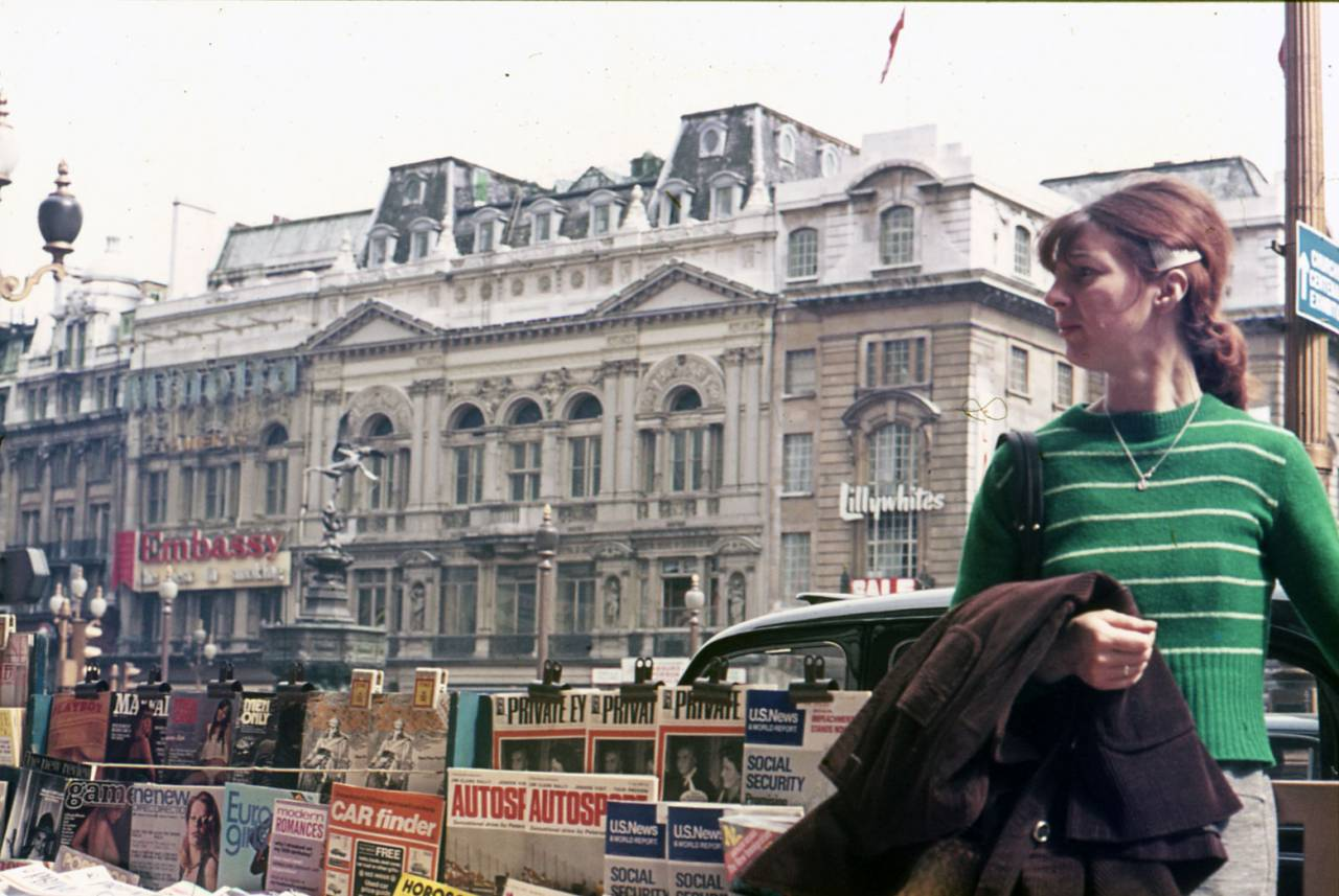 Piccadilly Circus in 1974